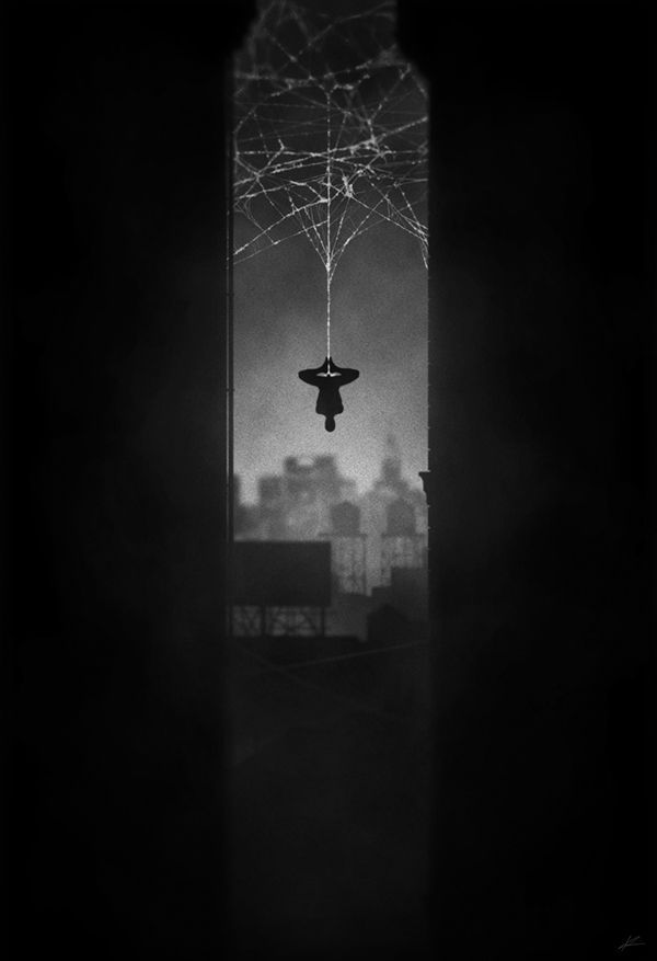 noir series by Marko Manev Spiderman
