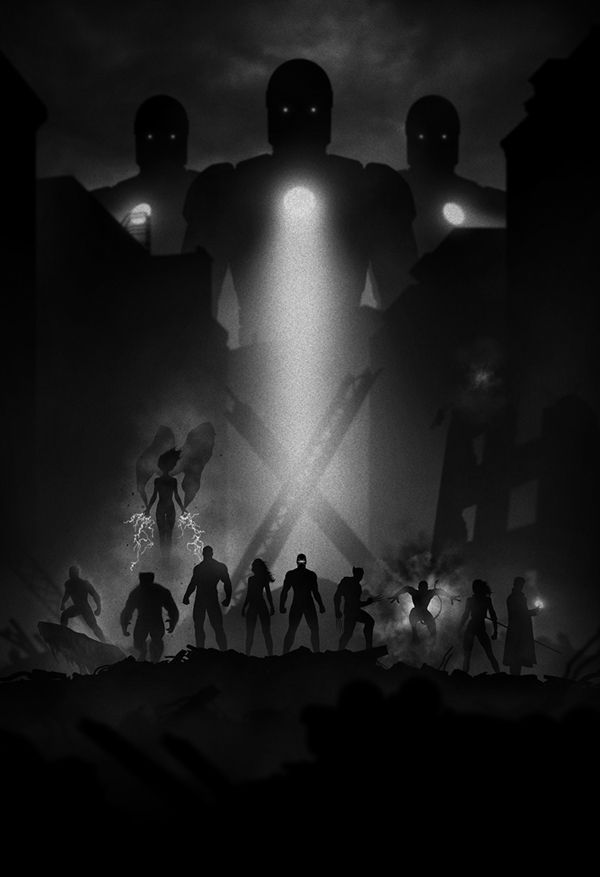 noir Superhero Series by Marko Manev The Xmen