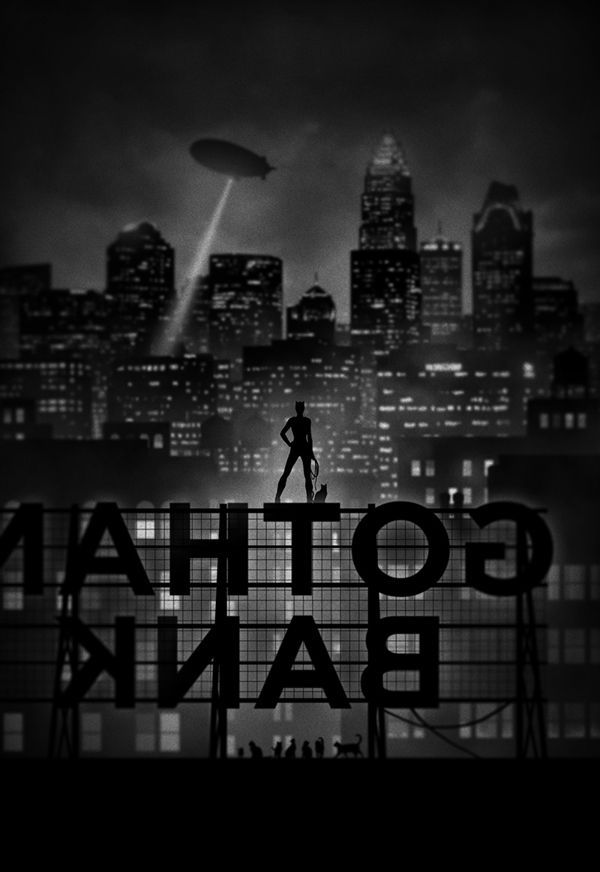 noir Superhero Series by Marko Manev Catwoman