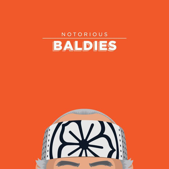 famous bald head illustration pop culture famous tv
