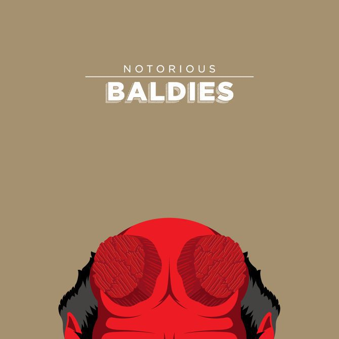 bald head illustration pop culture famous movie