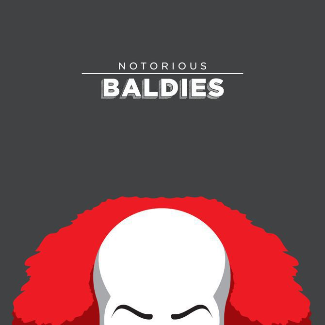 bald head illustration pop culture famous tv