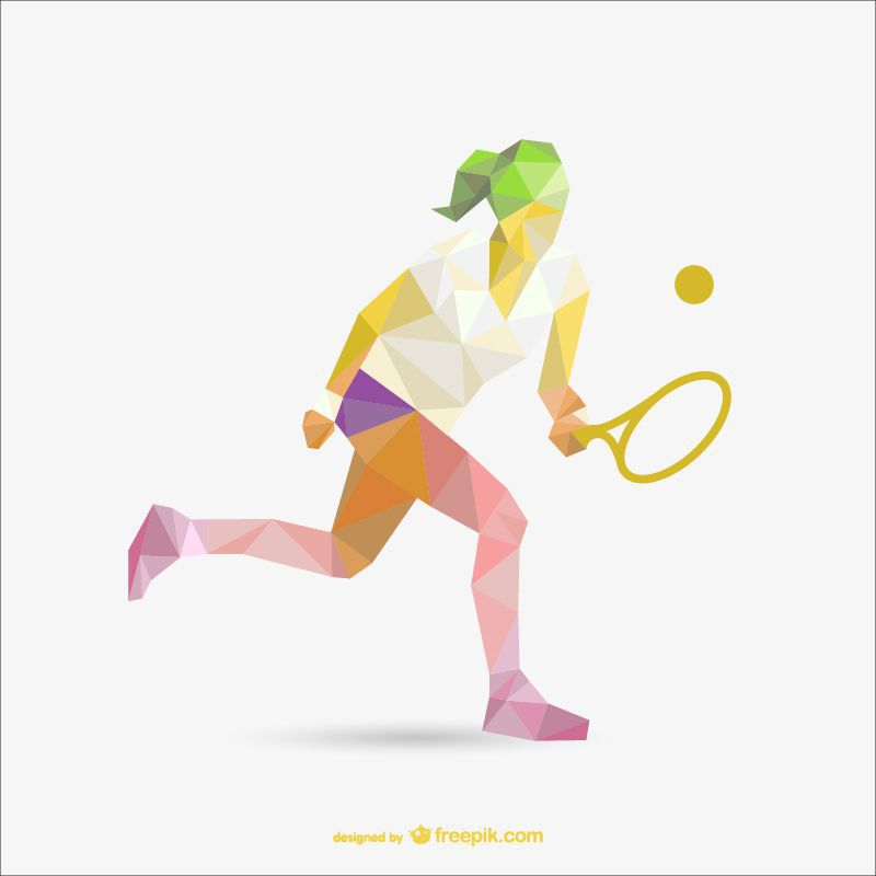 tennis sports polygon style template ai eps freebie