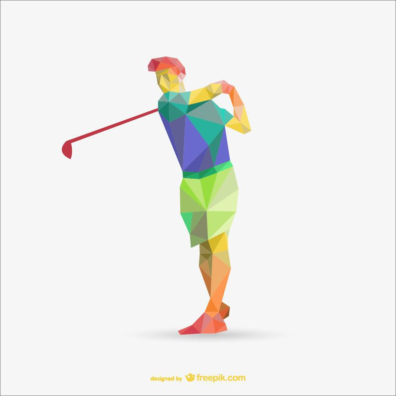 golf poly sports freebie template