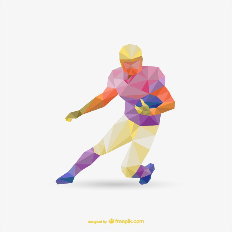 american football sports polygon style template ai eps freebie