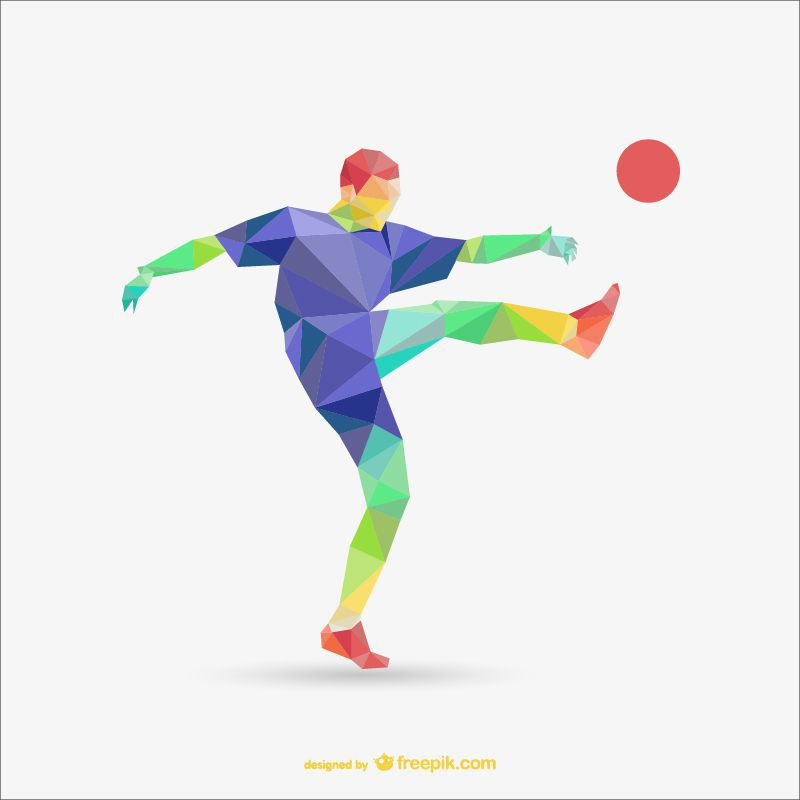 football soccer Sport Templates low-poly free template ai eps