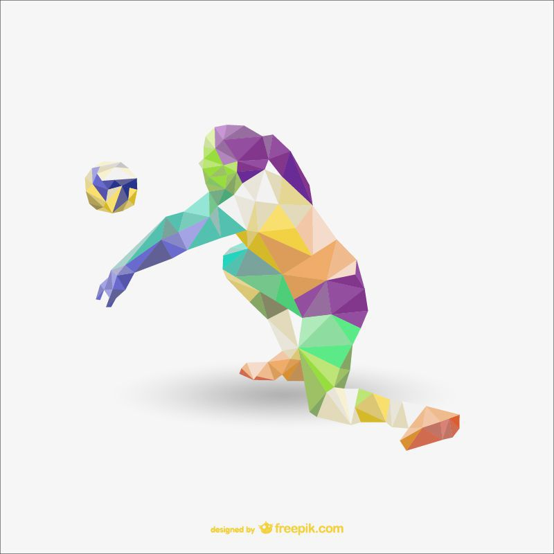 sports low-poly free template ai eps