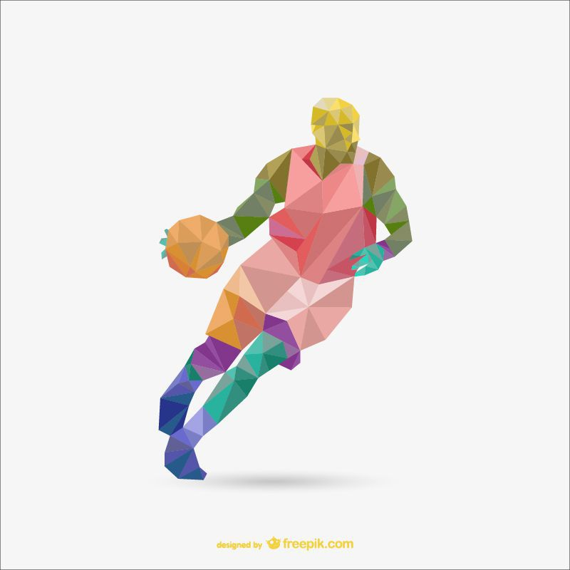 sports polygon style template ai eps freebie