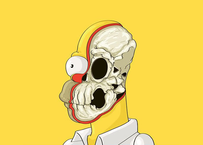 Cute Yellow – A Dissected Cartoon Character Illustration series
