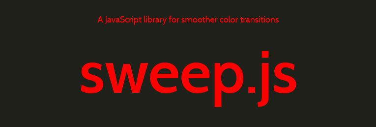 sweep.js - A JavaScript library for smoother color transitions