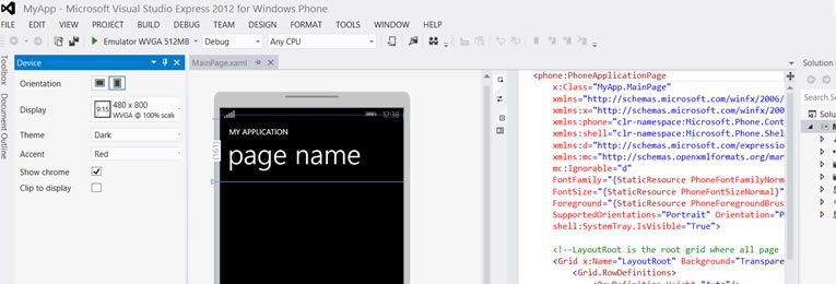 How to create your first Windows Phone 8 application