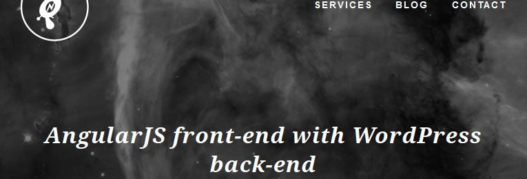 AngularJS front-end with WordPress back-end by Matt Saunders