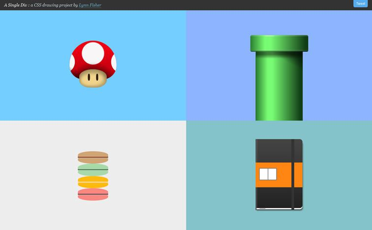 A Single Div A CSS drawing project
