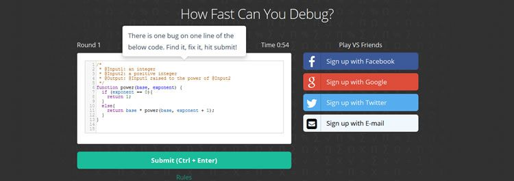 CodeFights, become a Code Debugging Champion!