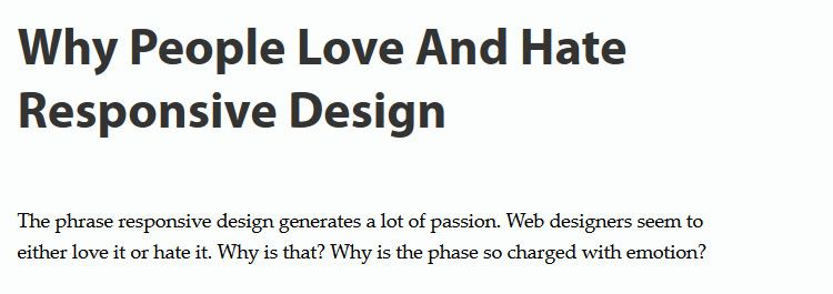 Why people love and hate responsive design by Steven Bradley