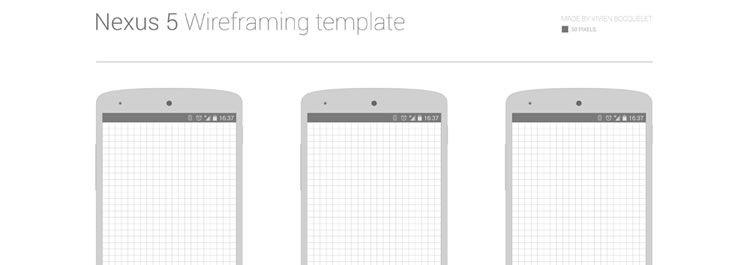 Freebie: Nexus 5 Wireframing template psd