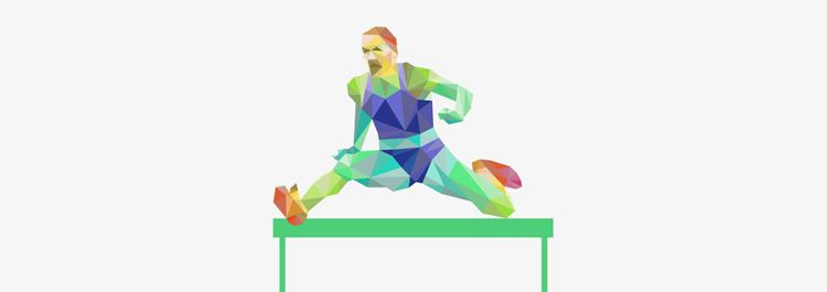 Freebie: Colorful Low-Poly Sport Templates ai eps