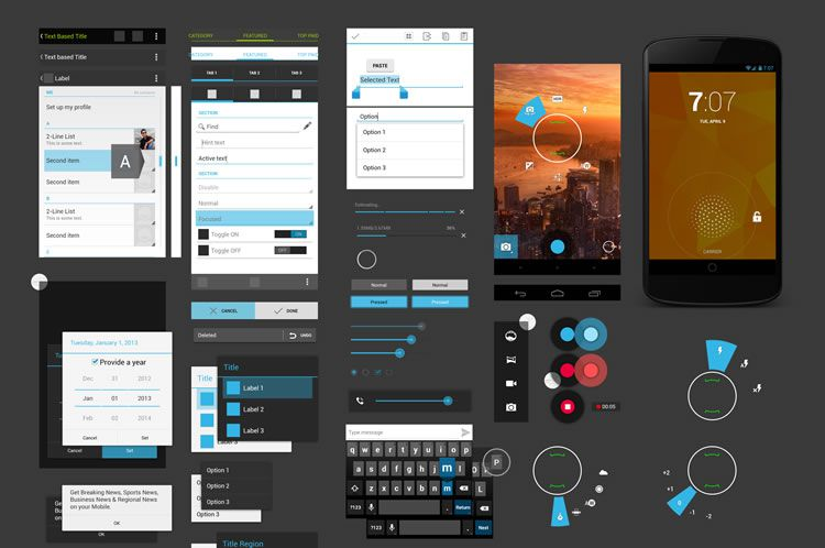 nexus 4 gui package psd - Android Ui Maker
