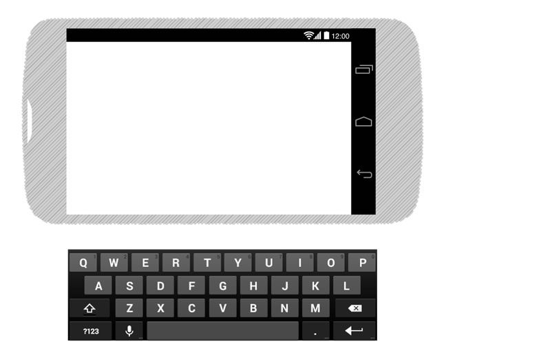 Android 4 Black Wireframing Stencil Omnigraffle