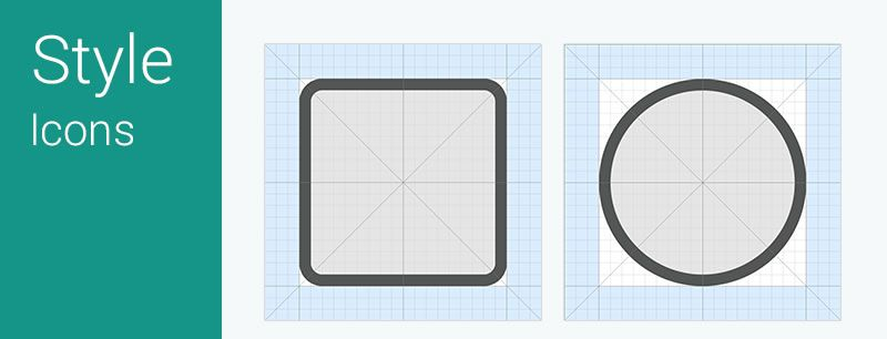 Android L Icon Grid System AI