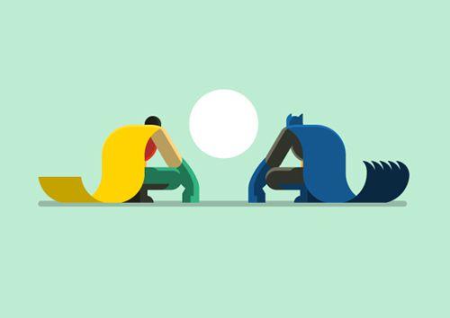 flat batman robin sitting down illustration series posters