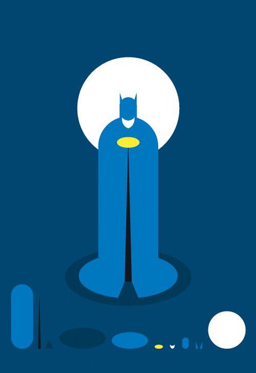 batman flat illustration series posters