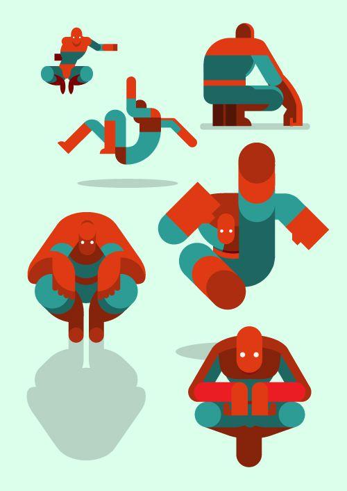 flat heroes spiderman illustration series posters