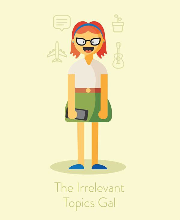 the irrelavant topics gal annoying call Illustration funny