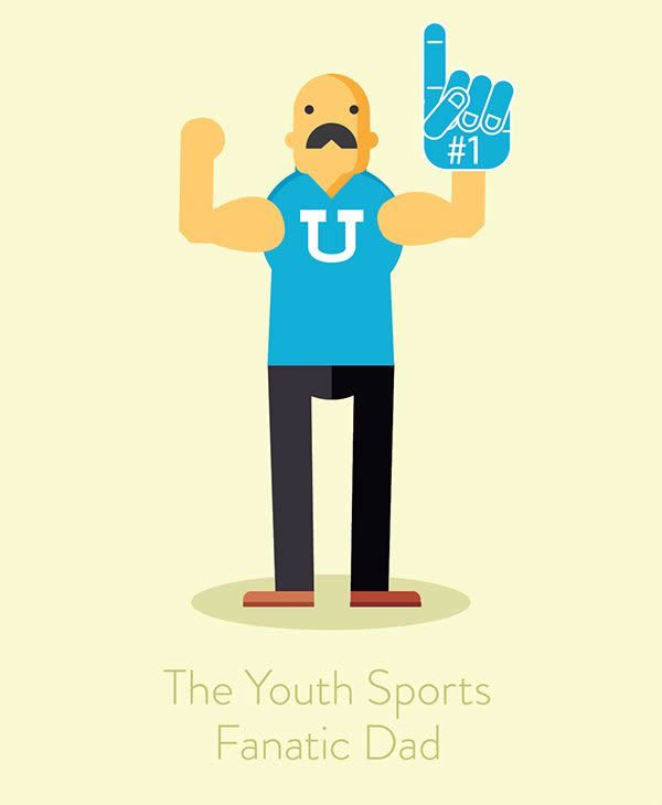 annoying call Illustration humor the youth sports fanatic dad