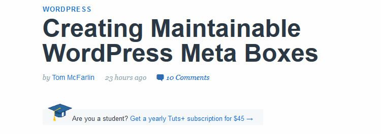 Creating maintainable WordPress meta boxes by Tom McFarlin