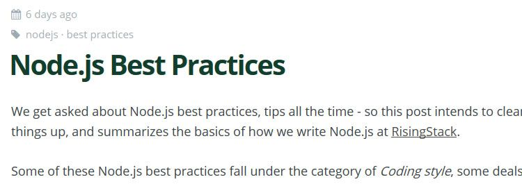 Node.js Best Practices by Gergely Nemeth