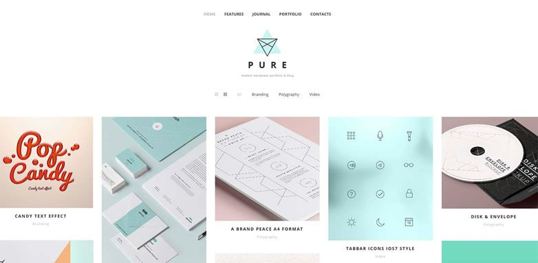 Freebie: Pure WordPress theme for creatives