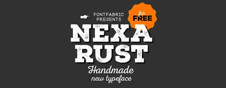 Freebie: Nexa Rust free font from Fontfabric