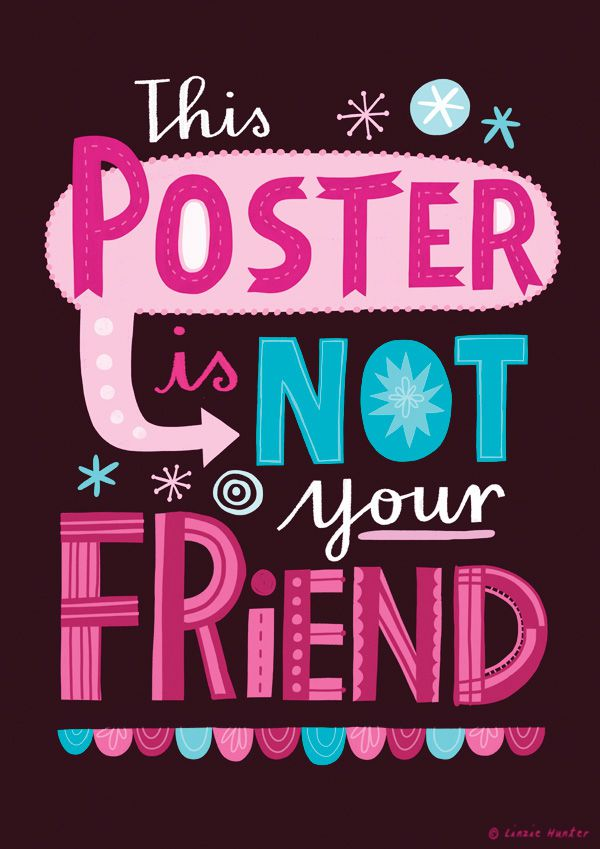 Linzie Hunter Posters quotes illustration