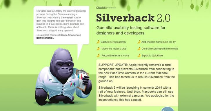 Silverback is a software for guerilla usability testing