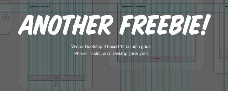 Freebie: 12 column vector grid for mobile, tablet & desktop