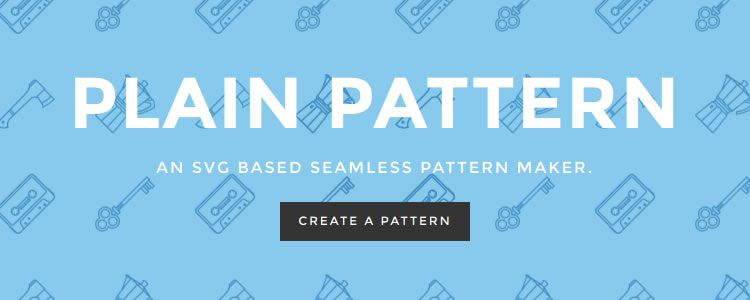 Plain Pattern, an SVG based seamless pattern maker