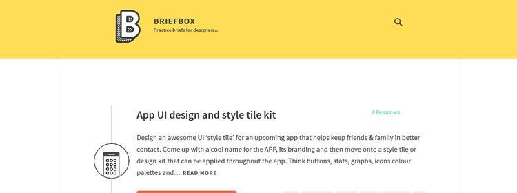 Briefbox some practice brief examples for designers & illustrators