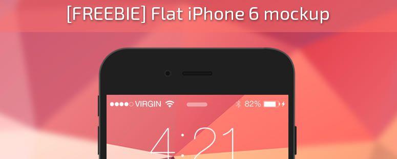 Freebie: iPhone 6 Flat Mockup