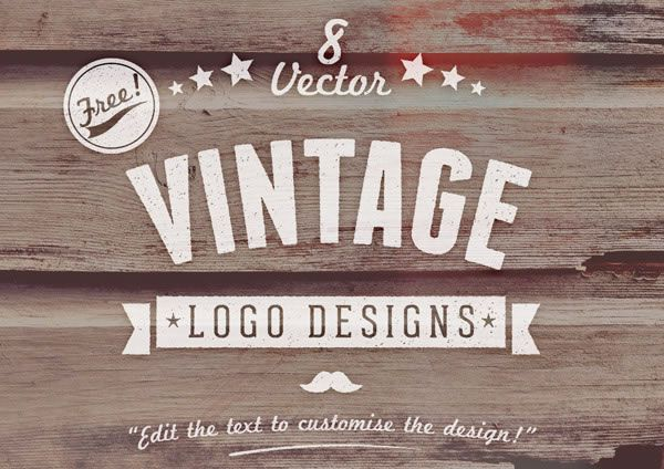 Freebie: Customizable Vector Vintage Style Logo Designs