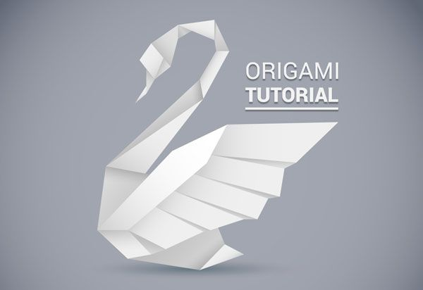 Creating an origami style vector swan in illustrator for Origami swan easy step by step