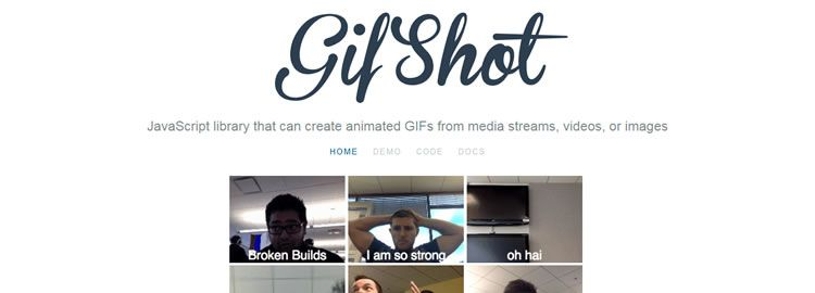 gifshot - a JavaScript library that can create animated GIFs from media