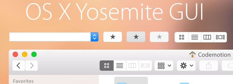 Freebie: Yosemite Vector GUI for Illustrator
