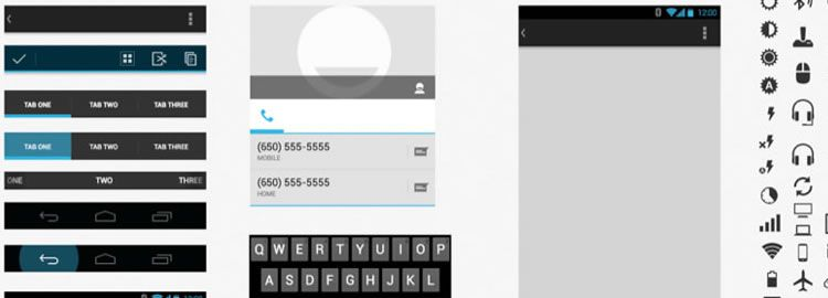 Android GUI & Wireframe Templates 2014
