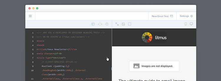 Litmus Builder, a code free editor for email design and development