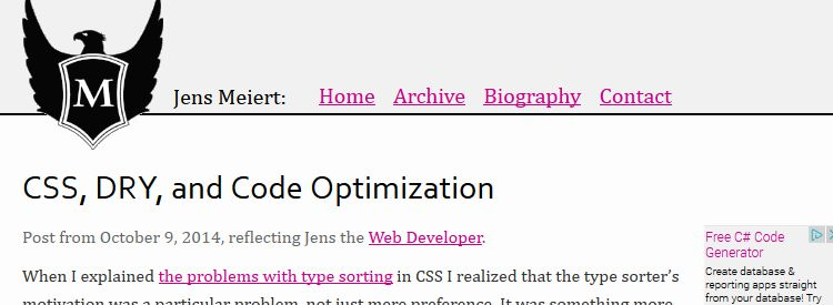 CSS, DRY, and Code Optimization