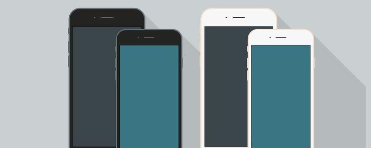 Flat Style iPhone 6 Mockups AI & PSD