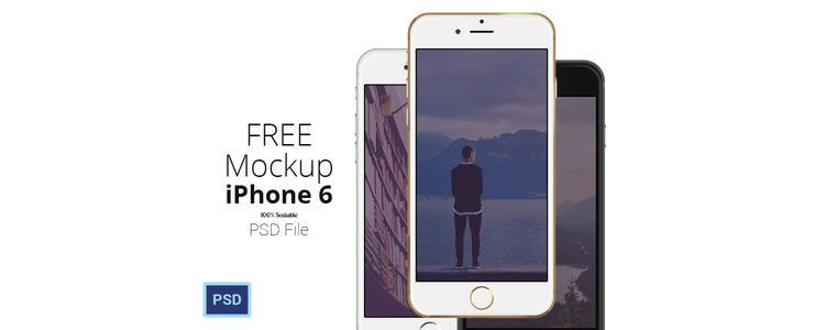 iPhone 6 Scalable Mockups PSD