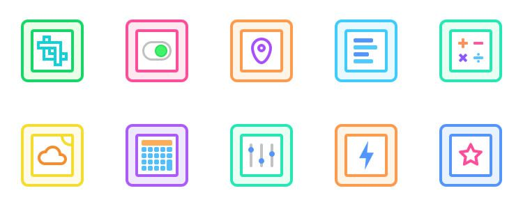 Gallericons - 30 Rounded and Colourful Icons