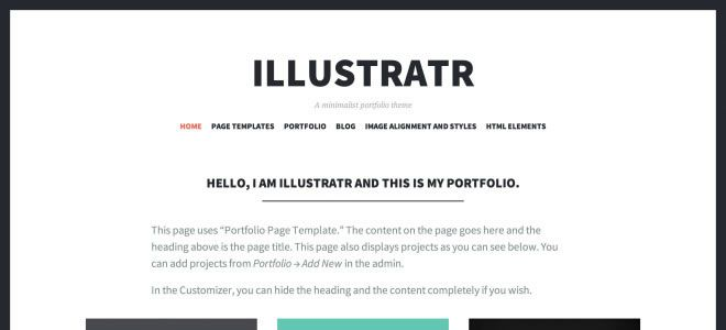 Illustratr WordPress Themes